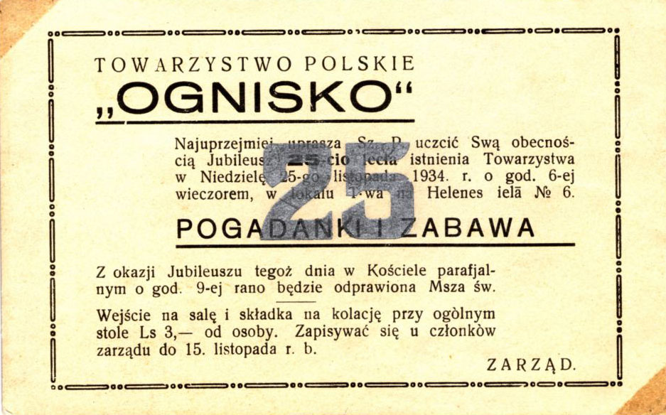 """Polskie Towarzystwo """"Ognisko"""" w Dyneburgu"""